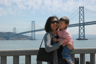 Mom and D, Bay Bridge, SF